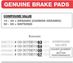 BREMBO REMBLOK 07GR5209 BRAKE PADS ORGANIC GENUINE